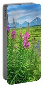 Fireweed In The Foreground Portable Battery Charger