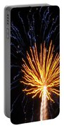 Firework Blue And Gold Portable Battery Charger