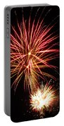 Firework Pink And Gold Portable Battery Charger