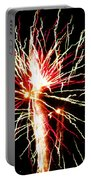 Firework Pink And Green Streaks Portable Battery Charger