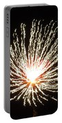 Firework White Fluff Portable Battery Charger