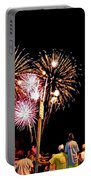 Fireworks And The Flag Portable Battery Charger