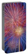Fireworks Celebration Glow Square Portable Battery Charger