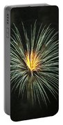 Fireworks Green Flower  Portable Battery Charger