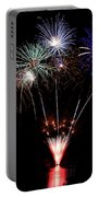 Fireworks Over Lake #14 Portable Battery Charger