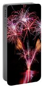 Fireworks Over Lake #15 Portable Battery Charger