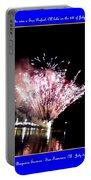 fireworks over San Rafael lake Portable Battery Charger
