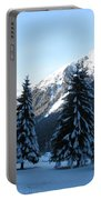 Firs In The Snow Portable Battery Charger