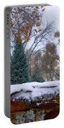 First Colorful Autumn Snow Portable Battery Charger