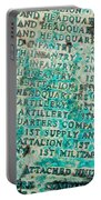 First Infantry Division Memorial Plaque Portable Battery Charger