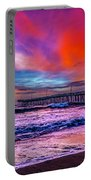 First Light On The Beach Portable Battery Charger