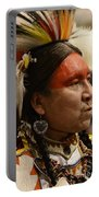 Pow Wow First Nations Man Portrait 1 Portable Battery Charger