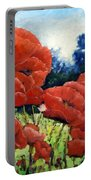 First Of Poppies Portable Battery Charger