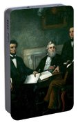 First Reading Of The Emancipation Proclamation Of President Lincoln Portable Battery Charger