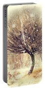 First Snow. Snow Flakes Portable Battery Charger