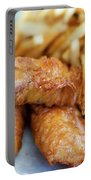 Fish And Chips On A Plate Portable Battery Charger