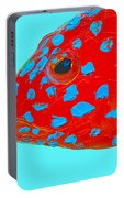 Fish Art - Strawberry Grouper Portable Battery Charger
