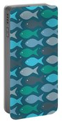 Fish Blue  Portable Battery Charger