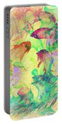 Fish Dreams Portable Battery Charger by Rachel Christine Nowicki