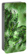 Fish In Green Mosaic 2 Portable Battery Charger