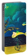 Fish Riding A Unicycle Portable Battery Charger