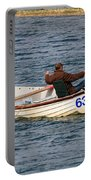 Fishermen In A Boat Portable Battery Charger