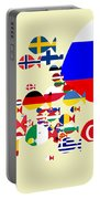 Fishes Map Of Europe Portable Battery Charger