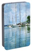 Fishing Bay Reflections Portable Battery Charger