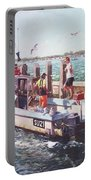 Fishing Boat At Mudeford Quay Portable Battery Charger by Martin Davey