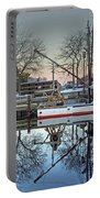 Fishing Boat At Newburyport Portable Battery Charger