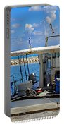 Fishing Boat Moored In The Harbor Of Katakolon Greece Portable Battery Charger