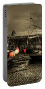 Fishing Boats At Lyme Regis Portable Battery Charger