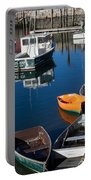 Fishing Boats, Rockport, Ma Portable Battery Charger