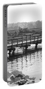 Fishing Pier And Train Tracks Portable Battery Charger