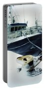 Fishing Trawler, Howth Harbour, Co Portable Battery Charger