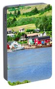 Fishing Village In Prince Edward Island Portable Battery Charger