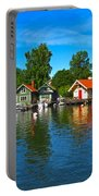 Fishing Village Of Vaxholm Sweden Portable Battery Charger