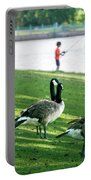 Fishing With The Geese Portable Battery Charger