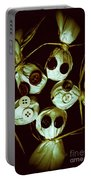 Five Halloween Dolls With Button Eyes Portable Battery Charger