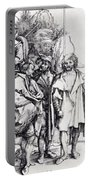 Five Lansquenets And An Oriental On Horseback 1495 Portable Battery Charger