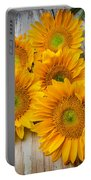 Five Moody Sunflowers Portable Battery Charger