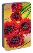 Five Red Dasies Portable Battery Charger