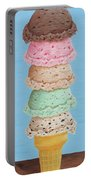 Five Scoop Ice Cream Cone Portable Battery Charger
