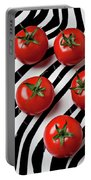 Five Tomatoes  Portable Battery Charger by Garry Gay