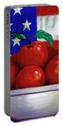 Flag And Apples Portable Battery Charger