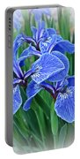 Flag Iris Blues Portable Battery Charger