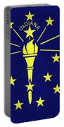 Flag Of Indiana Portable Battery Charger