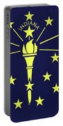 Flag Of Indiana Wall Portable Battery Charger