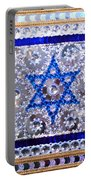 Flag Of Israel. Bead Embroidery With Crystals Portable Battery Charger