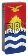 Flag Of Kiribati Word Portable Battery Charger